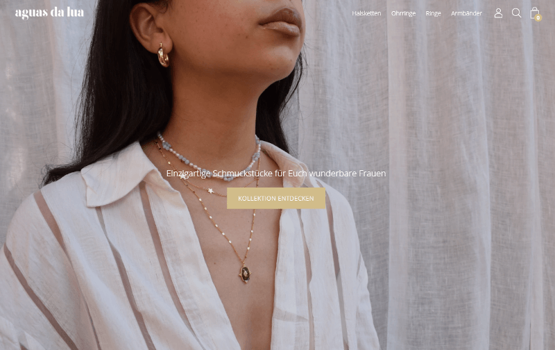 Aguas da Lua Website Shopify
